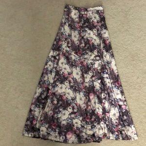 Vintage faux velvet skirt
